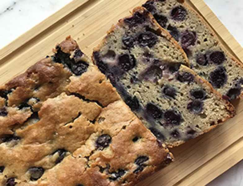 Blueberry Applesauce Loaf