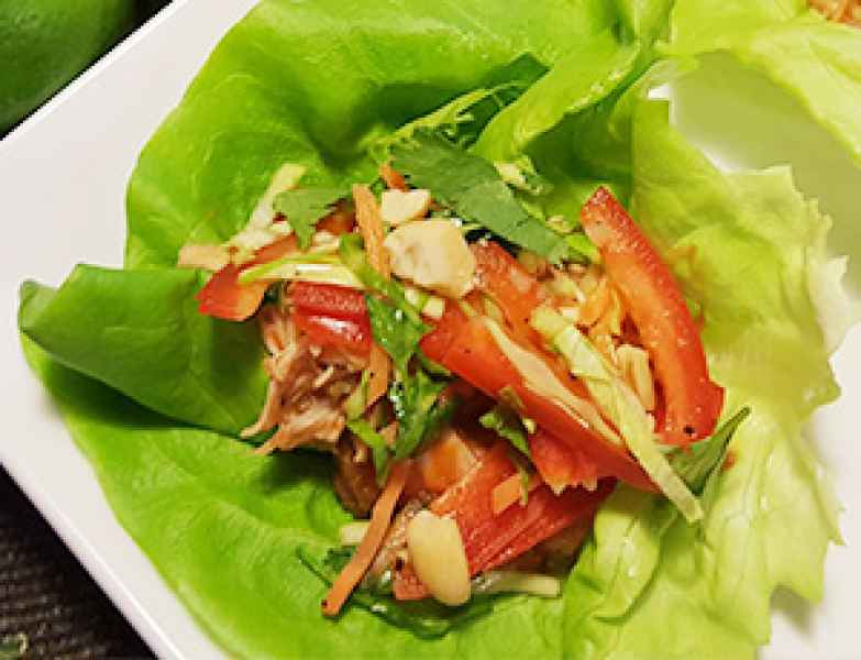 Jamaica Me Hungry Chicken Lettuce Wraps