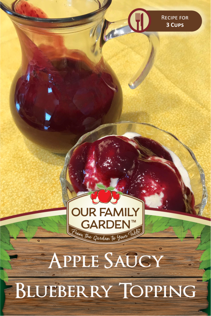 Apple Saucy Blueberry Topping