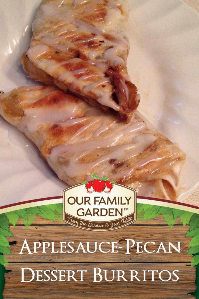 Applesauce-Pecan Dessert Burritos