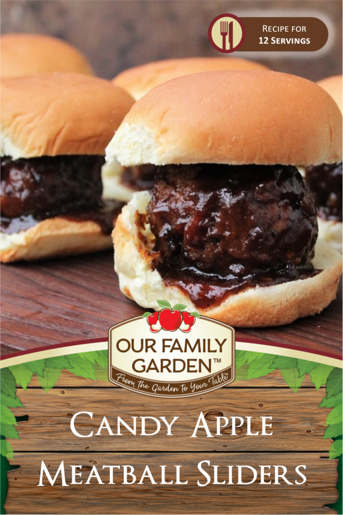 Candy Apple Meatball Sliders