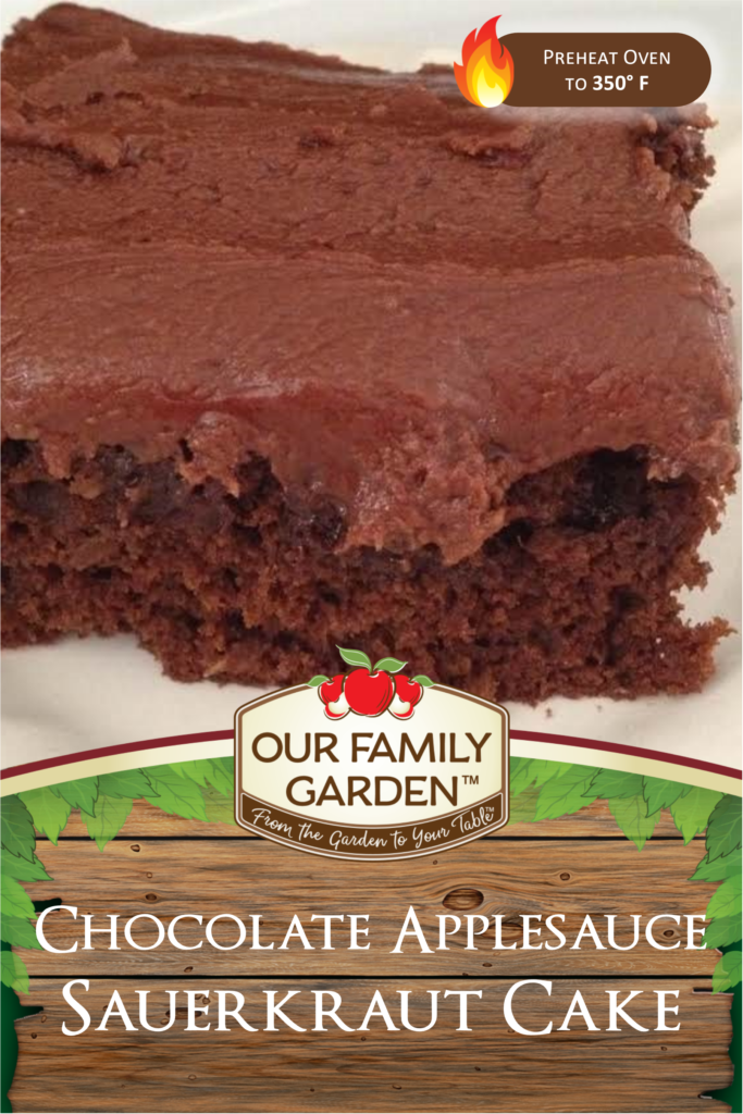 Chocolate Applesauce Sauerkraut Cake