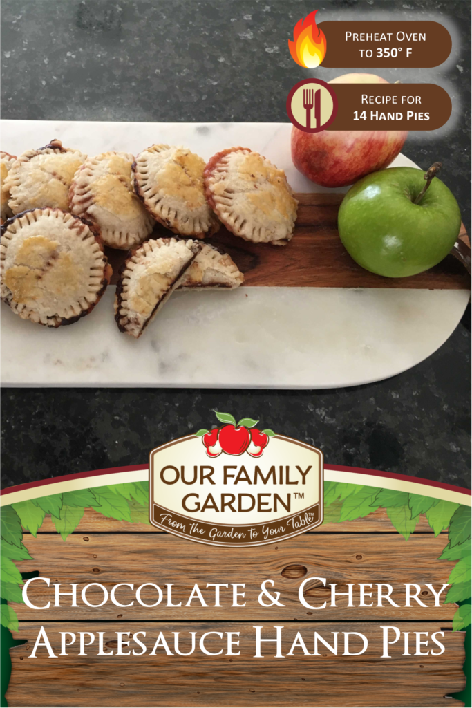 Chocolate and Cherry Applesauce Hand Pies