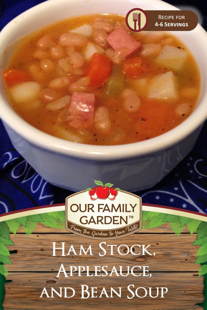 Ham Stock, Applesauce, and Bean Soup
