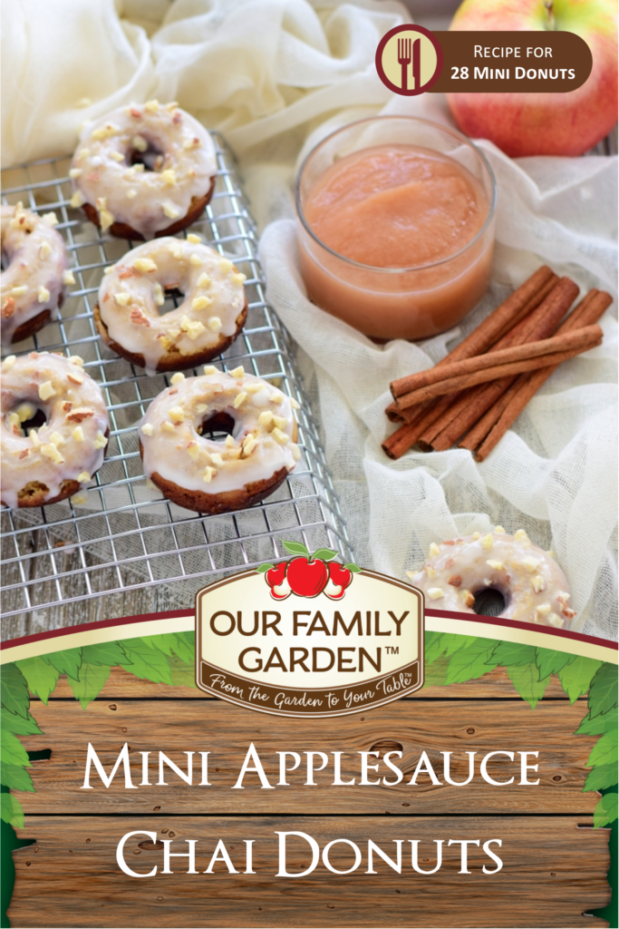 Mini Applesauce Chai Donuts