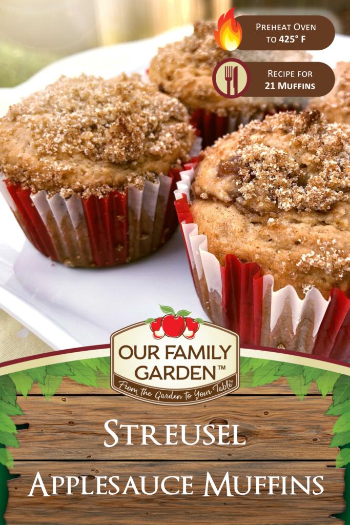 Streusel Applesauce Muffins