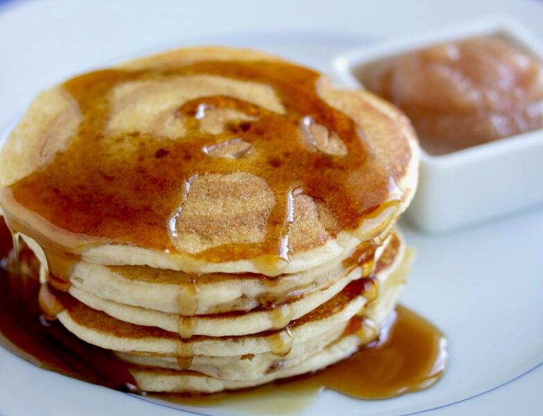 Gluten Free Cinnamon Swirl Applesauce Pancakes