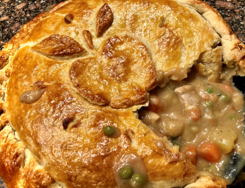 Pork Chops and Applesauce Pot Pie