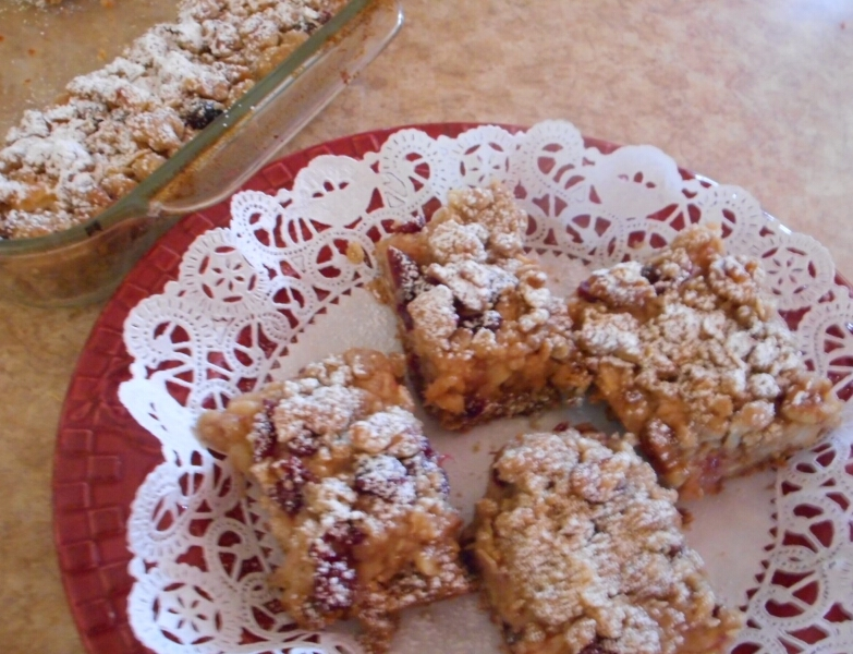 Saucy Cinnamon Apple Cranberry Bars