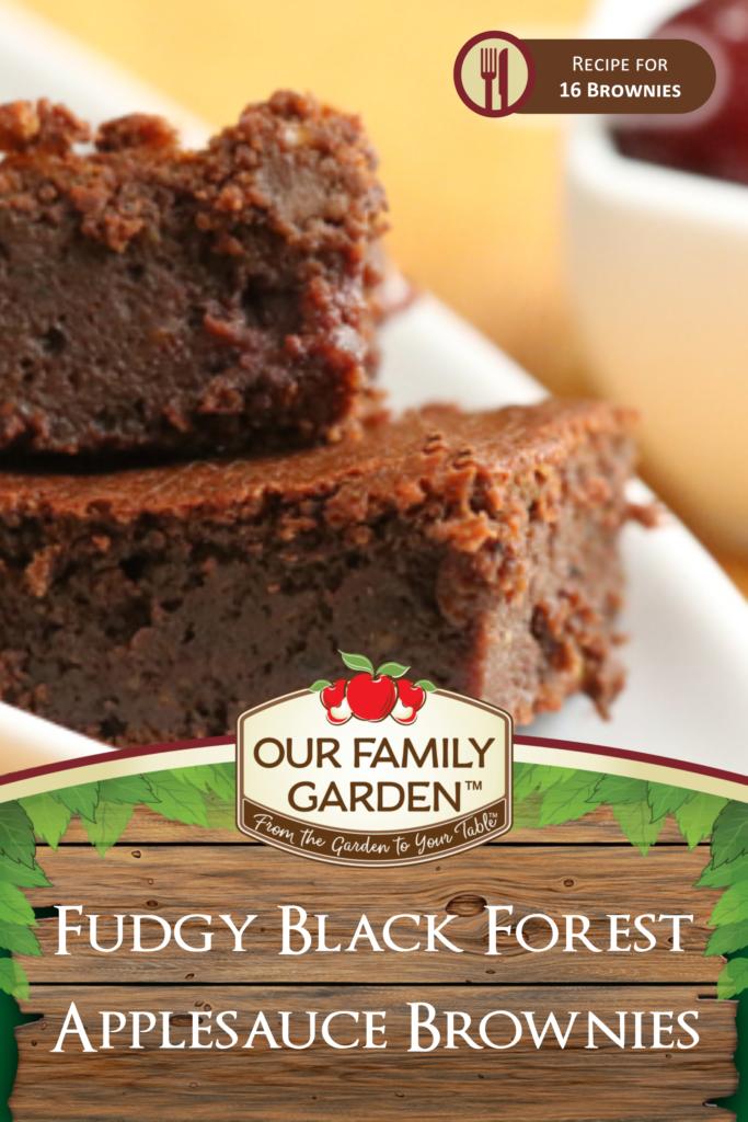 Fudgy Black Forest Applesauce Brownies