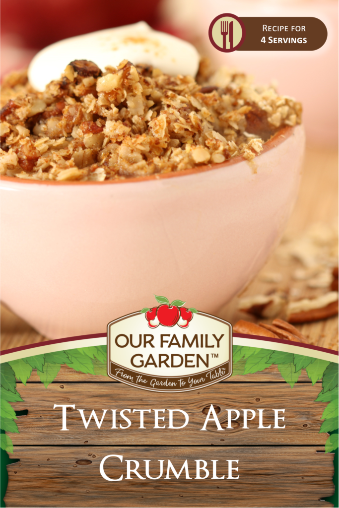 Twisted Apple Crumble
